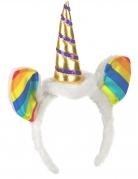 Cerchietto unicorno arcobaleno per adulto