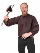 Camicia medievale marrone per uomo
