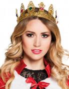 Corona da regina con finte pietre preziose per adulto