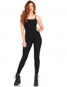 Tuta nera body elasticizzata da donna