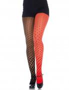 Collant arlecchino bicolore donna