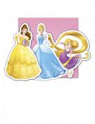 6 Inviti e buste di compleanno Pincipesse Disney™