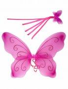 Ali da farfalla e bacchetta magica rosa per bambina
