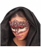 Maschera bordeaux pietre preziose  per donna