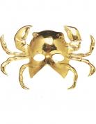 Maschera dorata a forma di granchio per adulto