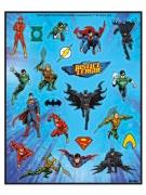 4 fogli di adesivi Justice League™