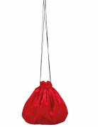 Borsetta in velluto rosso27 cm
