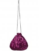 Borsetta di velluto viola 27 cm