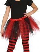 Tutù bicolore nero e rosso con brillantini