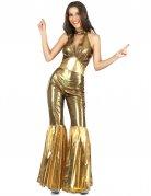 Costume disco dorato per donna
