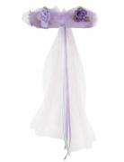 Corona da principessa con fiori viola per bambina