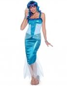 Costume da sirena blu per donna