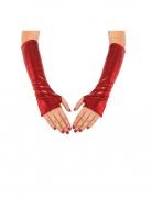 Manicotti rossi metallizzati Spidergirl™ per donna