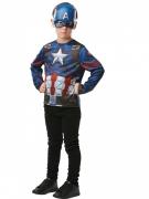 T-shirt e maschera di Capitan america™ per bambino