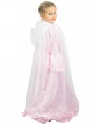 Mantello bianco e argento da principessa bambina