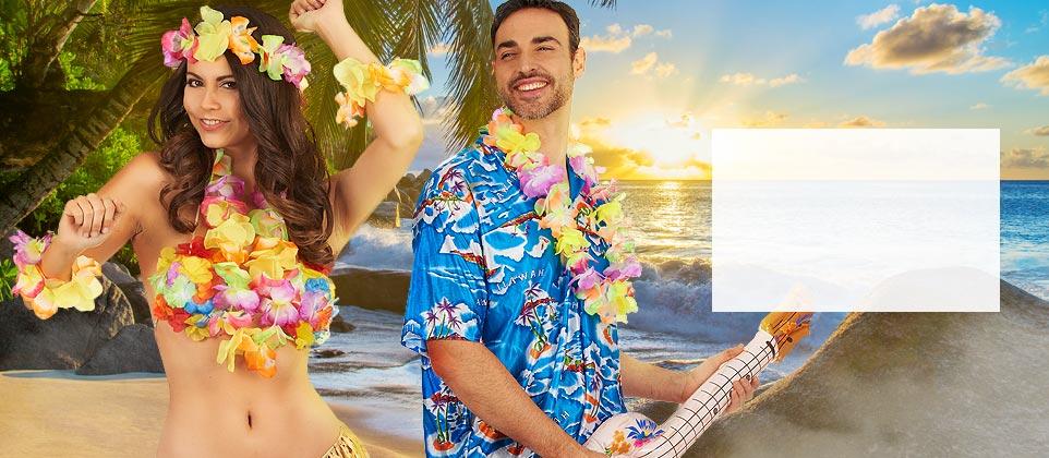 Travestimenti e accessori hawaii