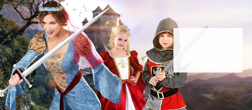 Travestimenti e accessori a tema medievale